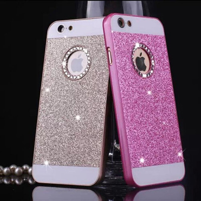 the latest e5cd9 7dec6 US $1.43 |Luxury Diamond bling case for iPhone 7 7 Plus 6 6S 5 5S SE  wonderful colors hard plastic back cover phone case for iphone 6 6s-in  Rhinestone ...