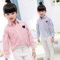 Девочка Рубашка Марка Хлопок Дети Clothing Высокое Качество Полосой Девушки Блузки Детская Одежда Для Девочек Принцесса Детская Одежда