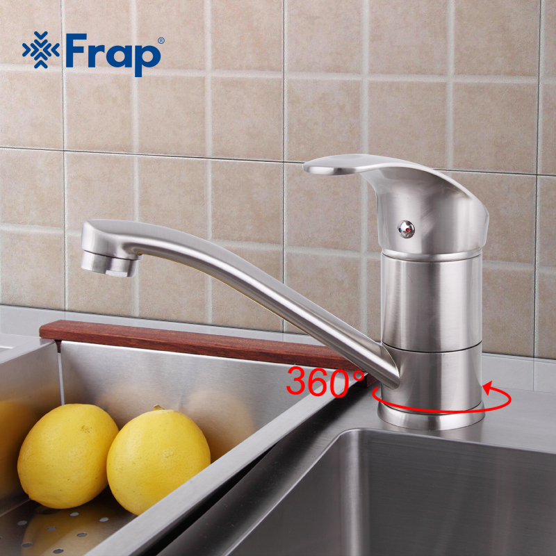 Frap Hot Sale Wholesale And Retail Promotion Brushed Nickel Kitchen Faucet Sink Mixer Tap Swivel F4521-5 & F4921-5
