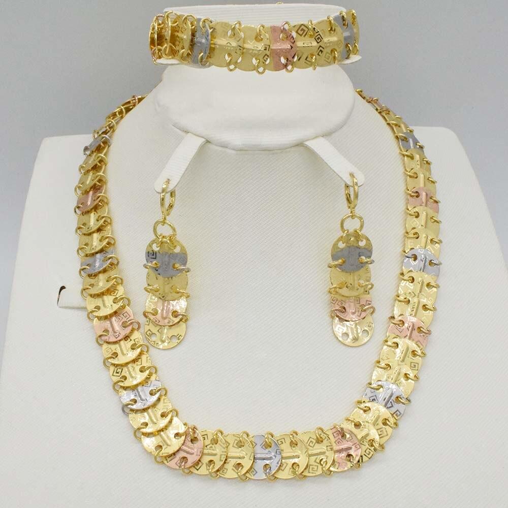 2018 New design Fashion Italy 750 Jewelry BIG Set Nigerian Wedding African Beads Jewelry Parure Bijoux big italy