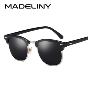 MADELINY New Square Polaroid Men Sunglasses Women Brand Designer Fashion gafas de sol sun glasses oculos de sol feminino MA016