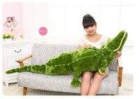 Stuffed Animal Large 160cm Simulation Crocodile Plush Toy Throw Pillow Birthday Gift W3270