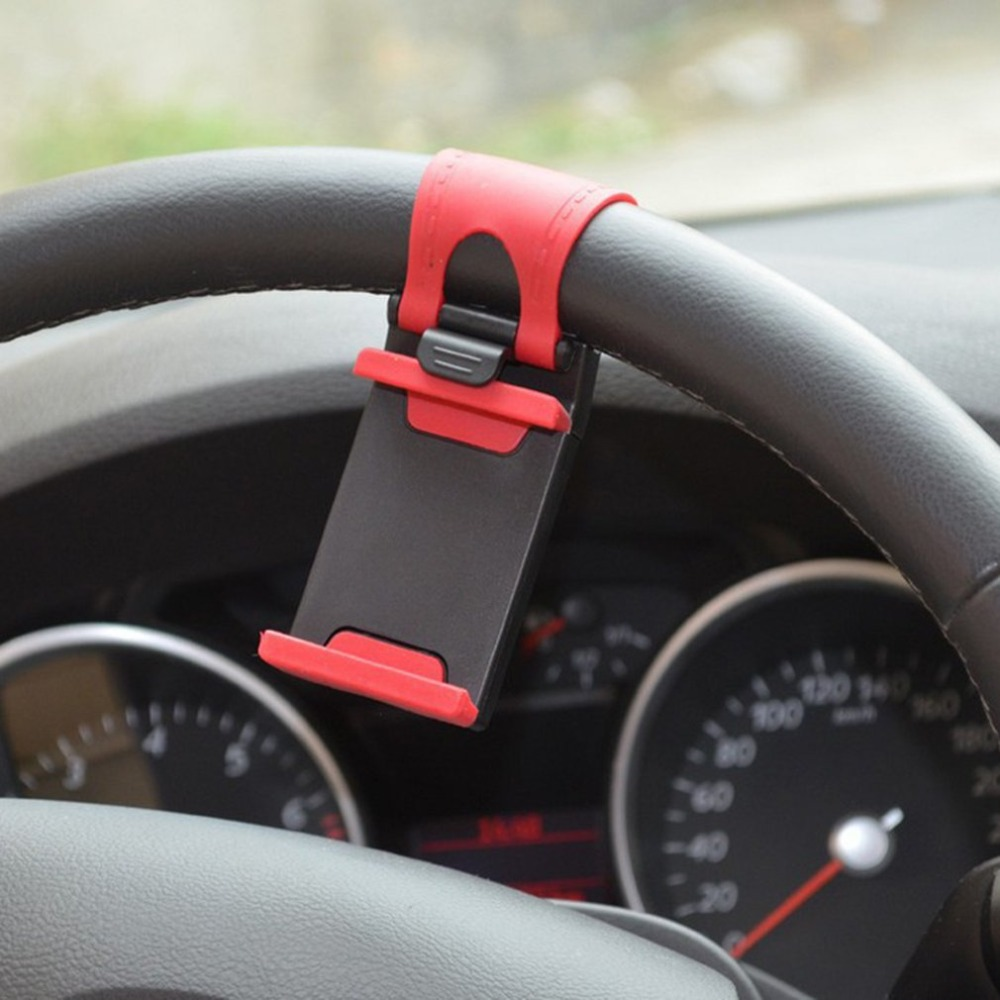 Universal Car Steering Wheel Clip Mount Phone Holder For IPhone X 8 7 7Plus 6 6s Car Mobile Holder For Samsung Xiaomi Smartphone