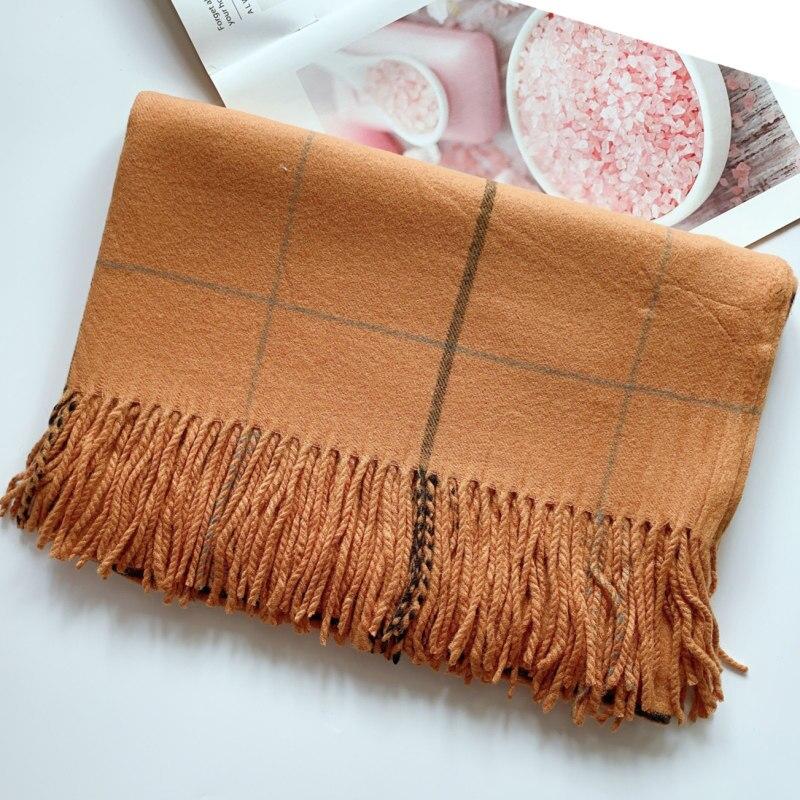 Oversize Classic Plaid women   scarf   Cashmere Shawl men   scarves     wrap   Superior quality thickening female bandanna pashmina muffler