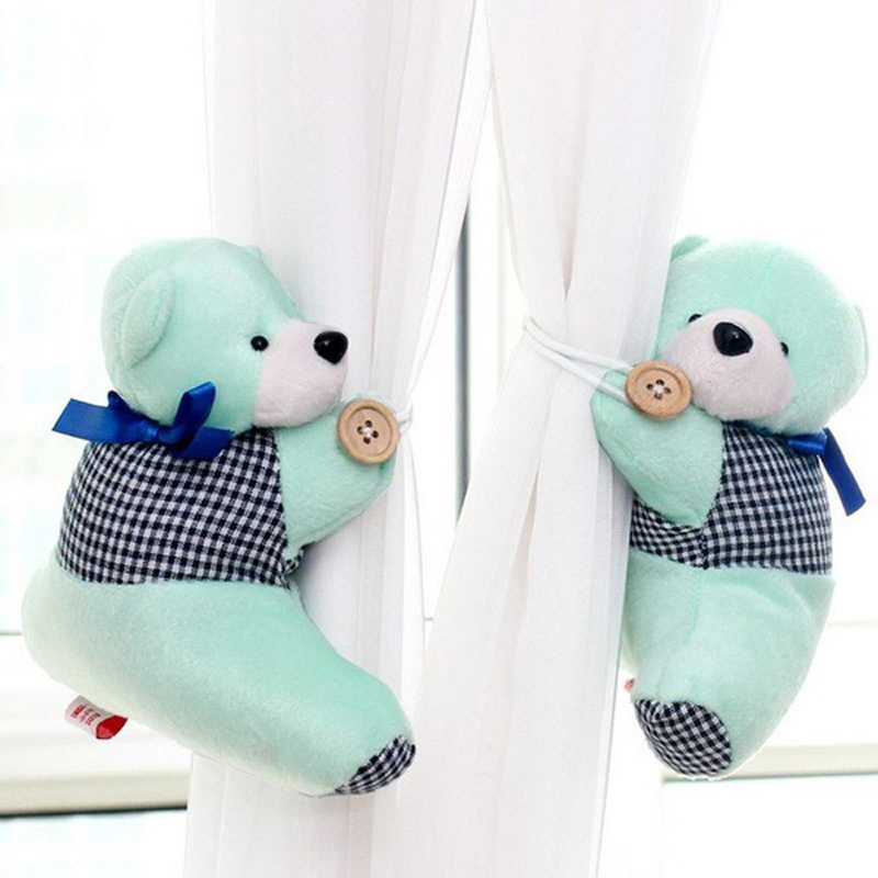153972171df 1 Pair Window Curtain Buckle Cute Bear Winne Home Curtain Clamp Hook  Fastener Tie-back