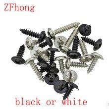 500 шт. M2(2 мм) phillips круглая сковорода шайба головка саморезы стали с черным или белым