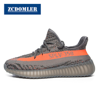 ZCDOMLER Top Quality Men's Casual Shoes Kanye Y 350 Breathable Sneakers Women Summer Mesh Mens Trainers Light Chaussure Homme