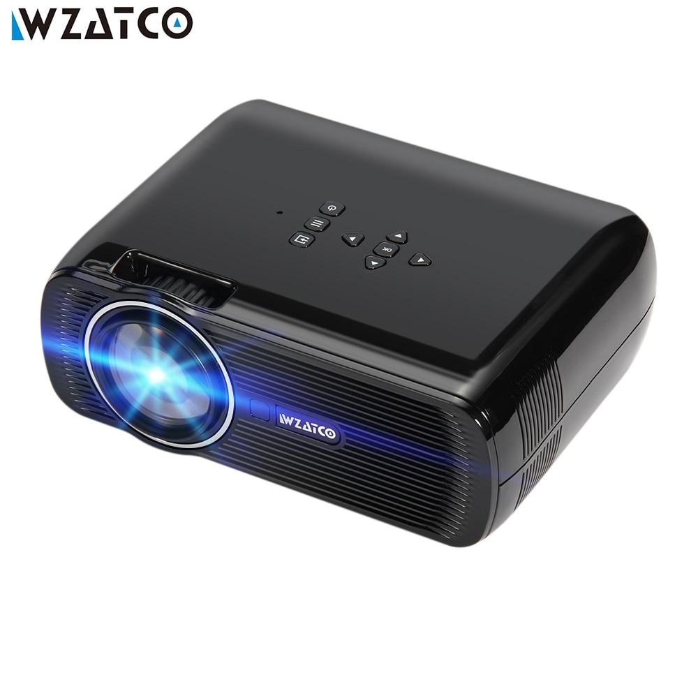 WZATCO CTL80 Android 6 Wifi Smart Портативный Мини светодиодный 3D ТВ проектор Поддержка Full HD 1080 P 4 К видео дома Театр Proyector