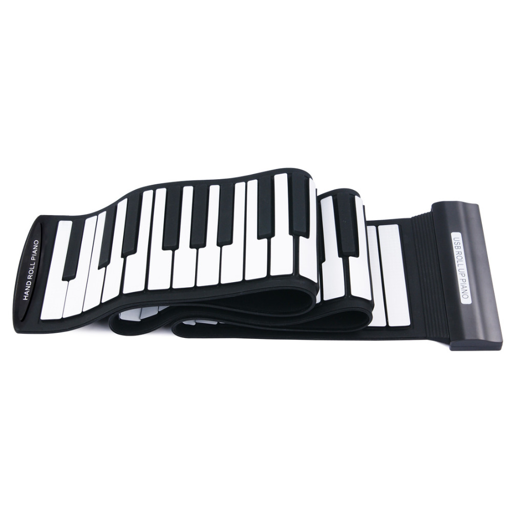 Portable Flexible 88 Keys USB MIDI Keyboard Piano Professional Electronic Roll Up Piano for Beginner Kids Children Toys Gift cheerlink md 1008 usb portable multifunctional professional midi electronic drum multicolored