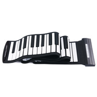 Portable Flexible 88 Keys USB MIDI Keyboard Piano Professional Electronic Roll Up Piano for Beginner Kids Children Toys Gift