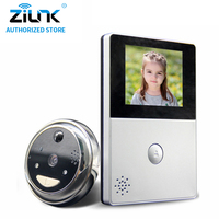 ZILNK HD Battery Peephole WiFi Doorbell Could Storage PIR Night Vision Video Intercom Cateye Support TF