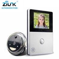 ZILNK HD Battery Peephole WiFi Doorbell Could Storage PIR Night Vision Video Intercom Cateye Support TF