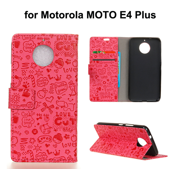 new arrivals 17f1d 78505 US $2.23 5% OFF|For Motorola MOTO E4 PLUS mobile phone pu leather wallet  flip case,for MOTO E4Plus magic girl pu leather stand cover funda coque-in  ...