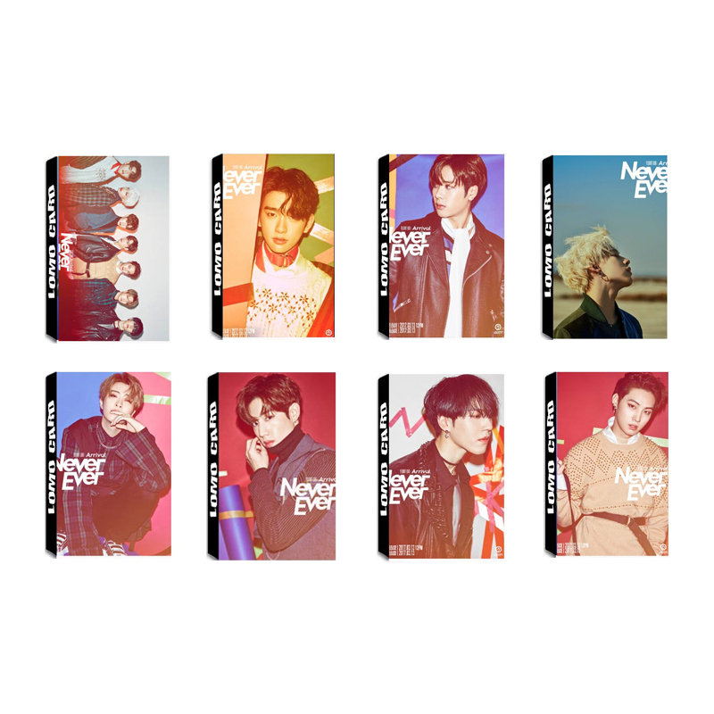 Youpop KPOP GOT7 Shopping Mall Never Ever Album LOMO Cards K-POP New Fashion Self Made Paper Photo Card Photocard LK463 image