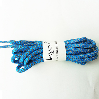 Leyou 100-160cm люминесцентная лампа кроссовки шнурки спортивные шнурки 3м Reflective круглые веревочные шнурки светлые шнурки Led - Цвет: Skyblue