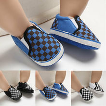 2019 Baby Soft Sole Crib Shoes Infant Boy Girl Plaids First