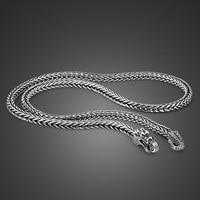 Men's Thai silver chains necklaces ethnic dragon design process sliver popular necklaces silver body jewelry 56cm/61cm/66cm