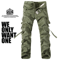 New Men Cargo Pants military inexperienced huge pockets ornament mens Casual trousers simple wash male autumn military pants plus dimension