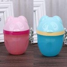 Детский дозатор для молочного порошка, контейнер для бутылочек для еды, портативный для малышей, для кормления, молочный порошок, 3 ячейки, сетчатая коробка