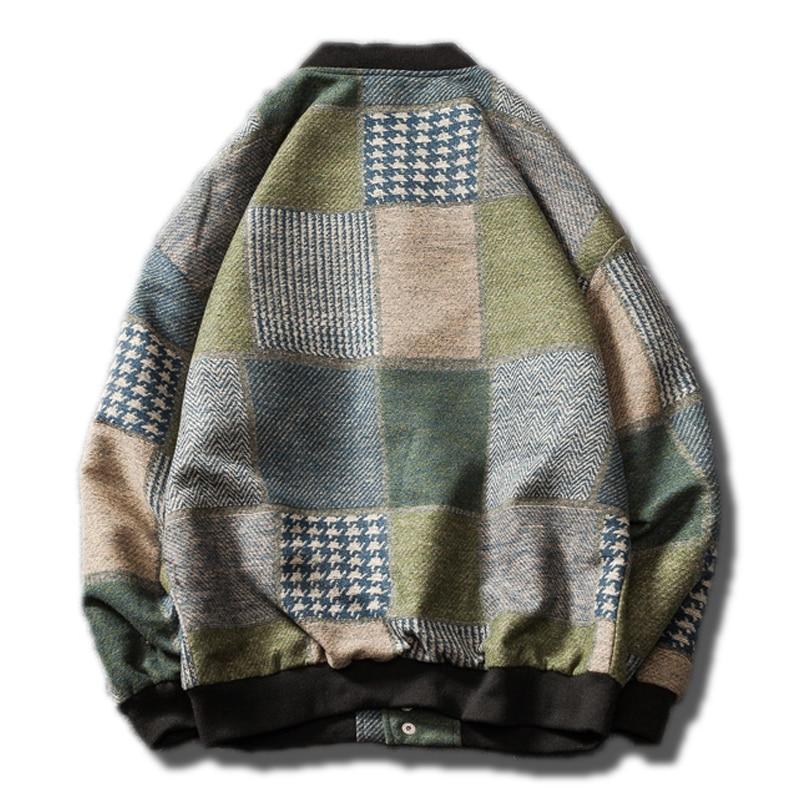 21eabaf70bf67 2018-s-lectionn-harajuku-Cor-enne-de -laine-carreaux-bomber-veste-Hommes-manches-longues-manteau-d.jpg