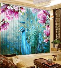 fashion 3d curtains window curtain living room extend 3d stereoscopic model home curtains curtains living room window customize window curtains Peacock opening 3d curtain for living room bedroom modern home curtains