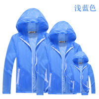 Family Matching Outfits Outdoor Sunscreen Clothing Sports Family Look Mens Womens Windbreaker Kids Boys Ultra Light