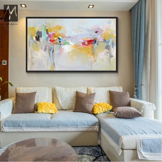 Grande parete della tela di canapa di arte acrilico pittura quadri ...