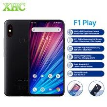 "UMIDIGI F1 לשחק אנדרואיד 9.0 48MP + 8MP + 16MP מצלמות טלפון נייד 6 GB RAM 64 GB ROM 6.3 ""FHD + Helio P60 גלובלי Smartphone הכפול 4G"