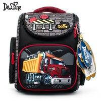 Delune Brand Primary Grade 1 3 Kids 3D Cartoon School bags Children Orthopedic Ergonomic Design School Backpack Boys School Bags