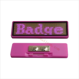 Image 5 - 10pcs 44*11 LED Name Tag Name Badge reusable Price Tag name Tape office  name tags, to Russian Federation