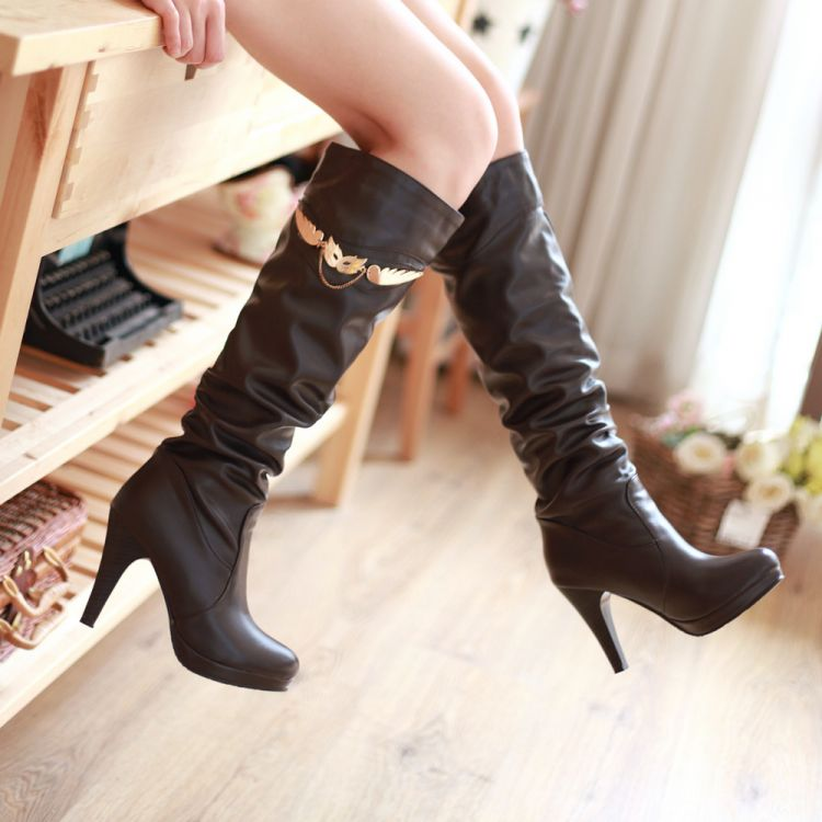 ФОТО CCustomize mm boots ultra high heels autumn and winter boots customize big drum boots size 32 - 43 high-leg boots free shipping
