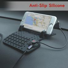 Non Slip Pad Mat USB Charging Cable Charger Car Mount Holder Stand For Mobile Phone for iPhone GPS Silicone Non-slip pad