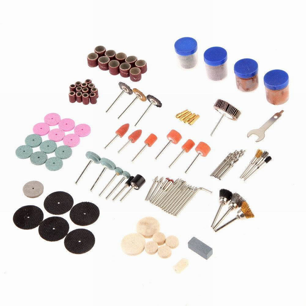 161pcs 1/8 Shank Electric Grinding Polishing Engraving Cutting Abrasive Tools Kits Accessories Set for Dremel Rotary Power Tool dremel multipro drill carving pen soft shaft accessories 161pcs polishing top level kits goggles 30pcs grinding needles