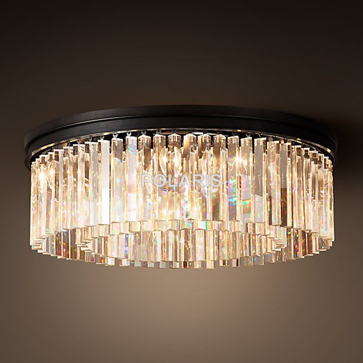 Free Shipping Modern Vintage Chandelier Crystal Ceiling Mounted Light for Home Restaurant Decoration