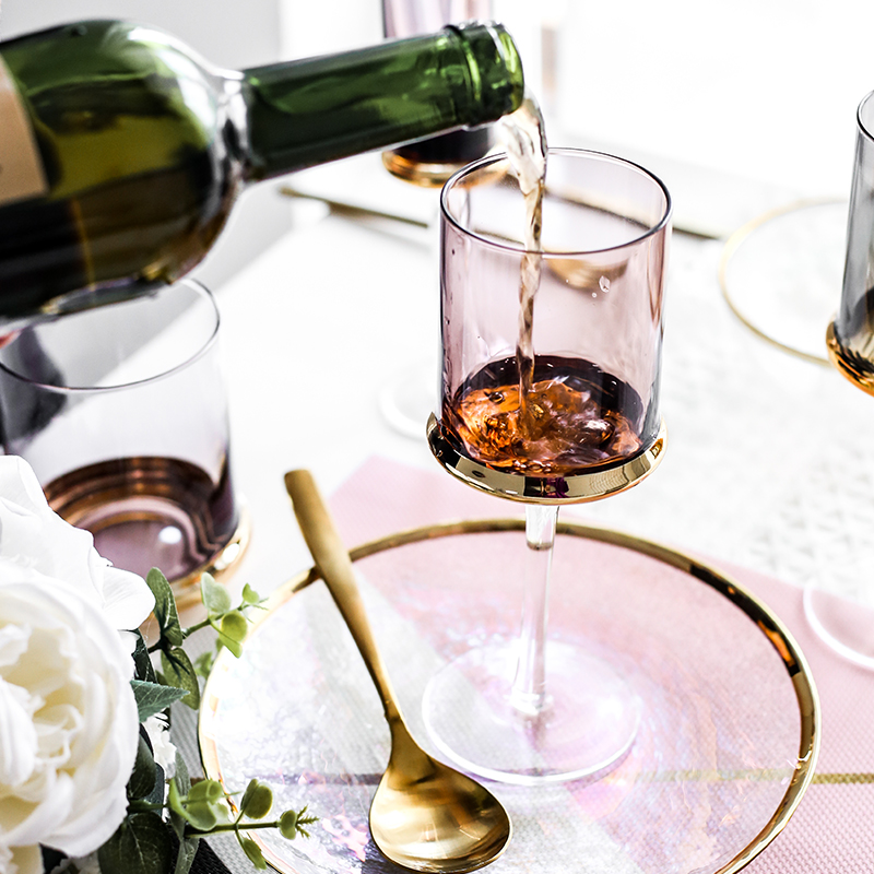 Europe glass wine cup Luxury Electroplated gold goblet wine glass champagne glasses cups Whiskey glass party wedding Drinkware in Wine Glasses from Home Garden