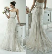 Custom made size! 2016 NEW Lace flower Mermaid  Trumpet Wedding dresses  Beach wedding woman dress
