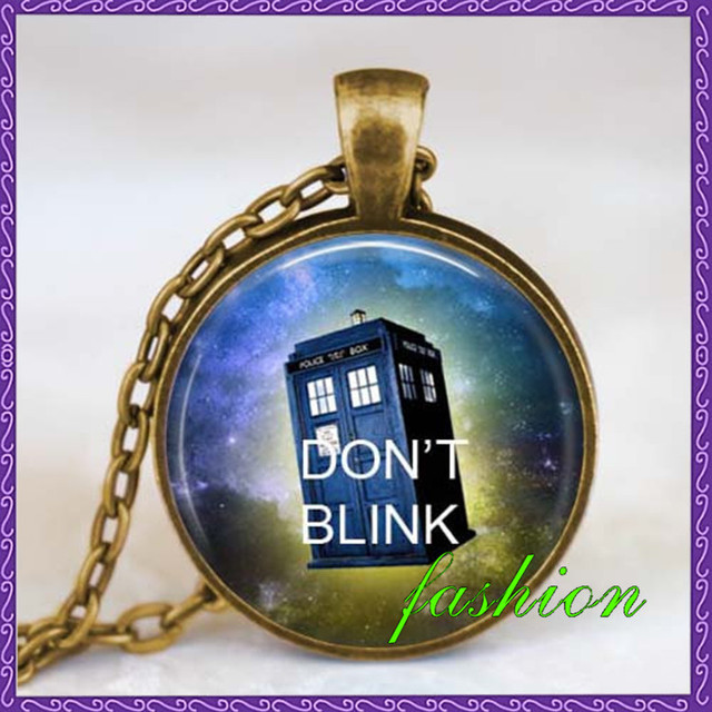 Dont blink doctor who quote necklace dont blink doctor who jewelry dont blink doctor who quote necklace dont blink doctor who jewelry time machine police box jewelry aloadofball Image collections