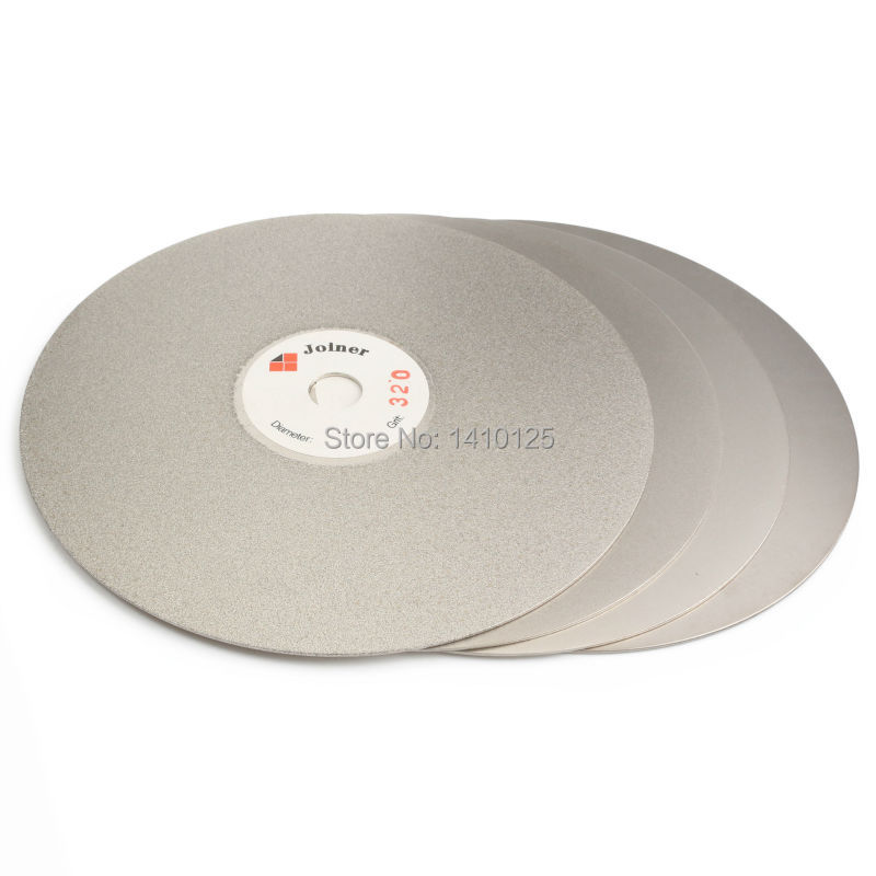 4Pcs 6 inch Grit 320 600 1200 3000 Diamond Grinding Disc Coated Flat Lap Disk Abrasive