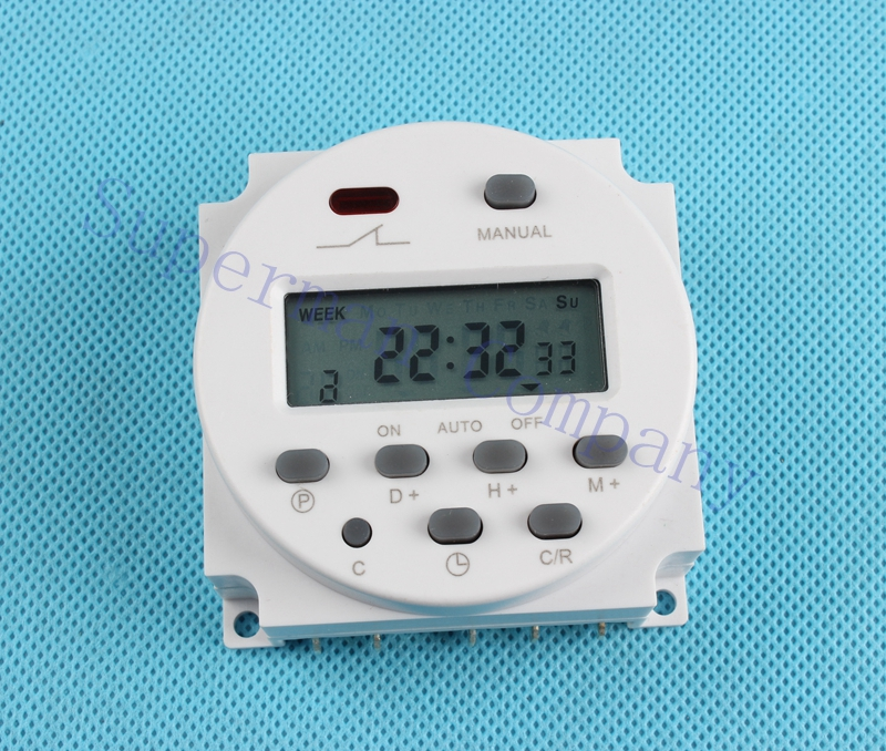 CN101B AC 12V 24V 220V 110V Digital LCD Power Timer CN101B Programmable Time Switch Relay with protective cover weekly 7days new digital lcd programmable timer 12v dc din rail time relay switch power drop ship