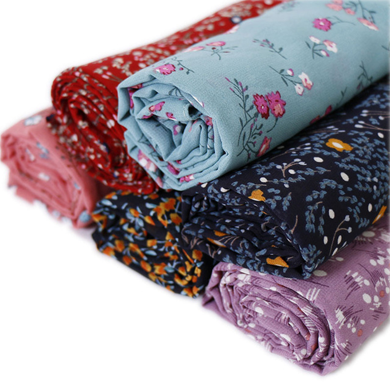 Women Bubble Chiffon Hijab Printing Scarf Design Flower Shawls Muslim Scarves Headscarf Wraps Turbans Headband Long Scarves(China)