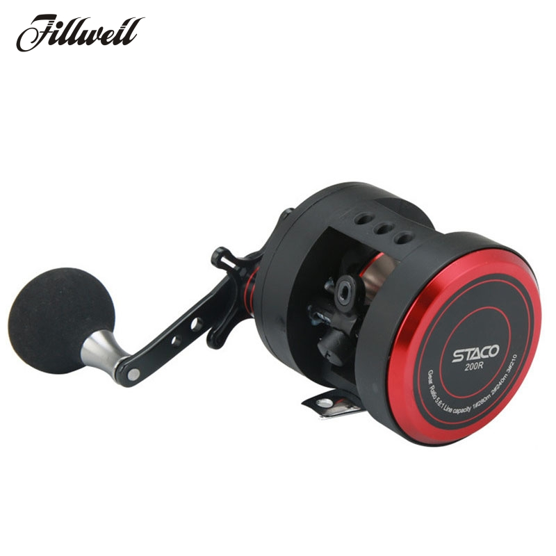 Jigging Trolling Reel Left/Right Hand Casting Sea Fishing Reel 10+1BB Baitcasting Reel Coil Trolling Boat Saltwater Round Reel hi cat