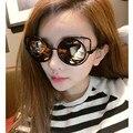 The cat's eye sunglasses 2017 new trend Joker han edition sunglasses fashion dazzle colour 2 sun glasses oculos de sol feminino
