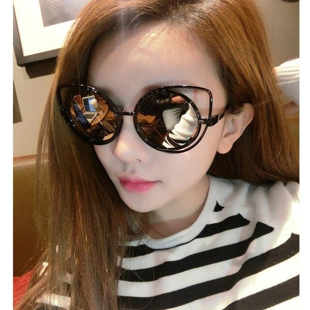 d5f6503e1c47a The cat s eye sunglasses 2017 new trend Joker han edition sunglasses  fashion dazzle colour 2 sun