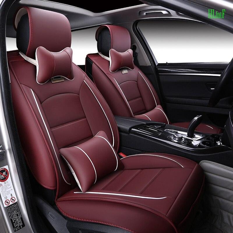 (Avant et arrière) housses de siège de voiture en cuir de luxe pour BMW e30 e34 e36 e39 e46 e60 e90 f10 f30 x3 x5 x6 coussin de siège de voiture - 4