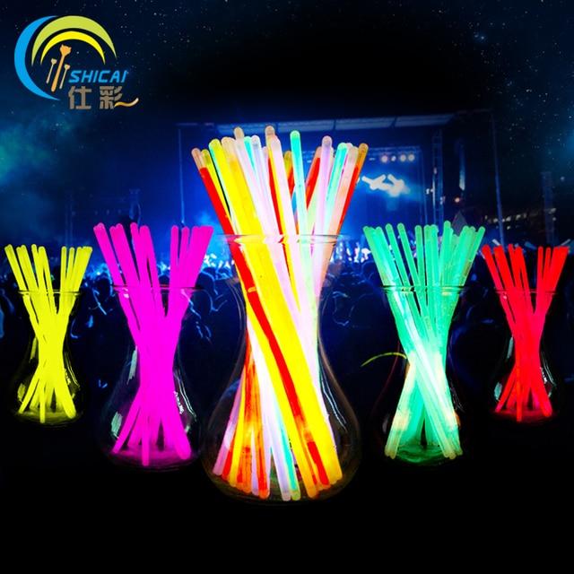 Nowy 100 sztuk/partia świąteczne uroczystości ceremonia fluorescencyjne bransoletki, noc glow sticks LED zabawki dla Olympic pierwszej jakości