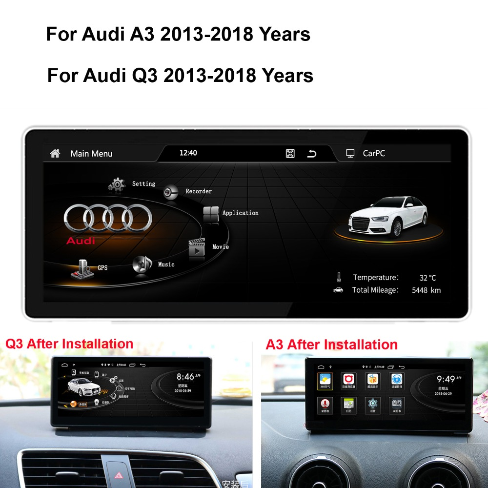 Coik 881025 Android Car Gps Navi Screen For Audi A3 Q3 2013 2018