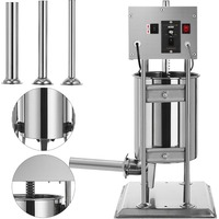 10L 25LBS ELECTRIC SAUSAGE FILLER STUFFER SALAMIL STAINLESS STEEL RESTAURANT|Tool Parts|   -