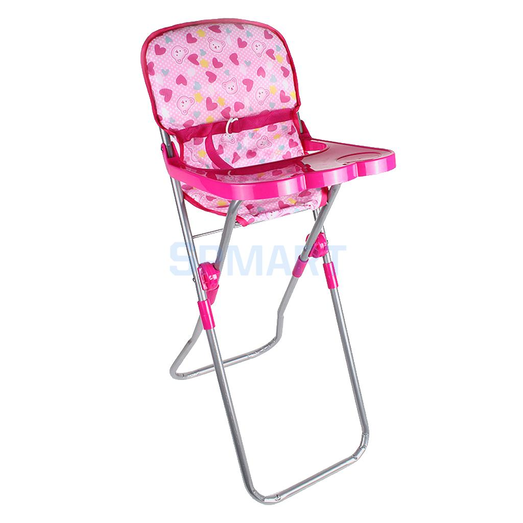 23 31 56cm Baby Doll Dining High Chair Model Simulation Furniture