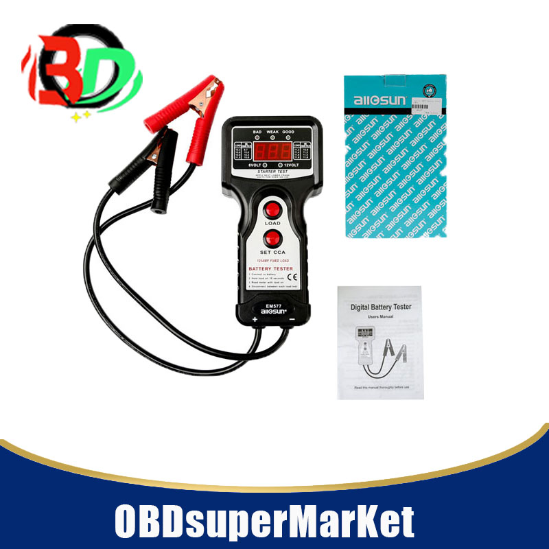 US $28 49 5% OFF|All Sun EM577 Battery Tester 6V 12V CCA Digital Automotive  Battery Analysis EM577 Charging Voltage Starter Motor-in Code Readers &