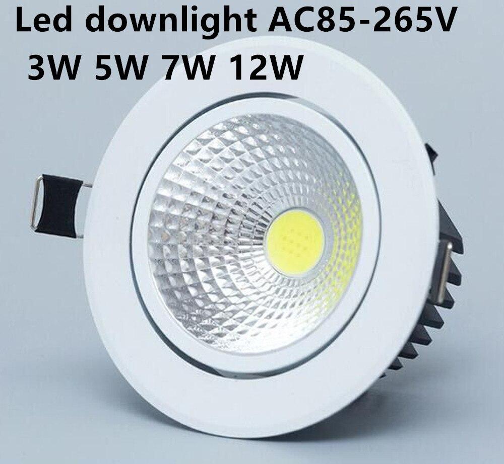 1 Pcs Led Dimmbare Led Downlight Licht Cob Decke Spot Licht 3 W 5 W 7 W 12 W Ac85-265v Decke Einbau Lichter Innen Beleuchtung Zur Verbesserung Der Durchblutung Led-downlights Led-beleuchtung